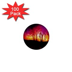 Fall Forest Background 1  Mini Buttons (100 Pack)