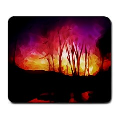 Fall Forest Background Large Mousepads