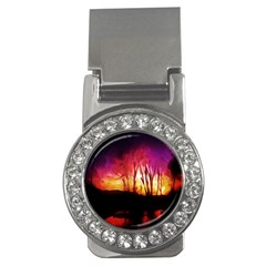 Fall Forest Background Money Clips (cz)