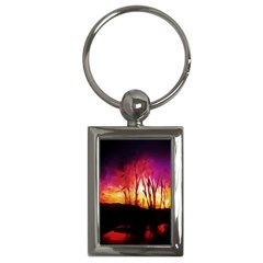 Fall Forest Background Key Chains (Rectangle)