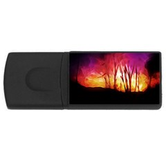 Fall Forest Background USB Flash Drive Rectangular (1 GB)