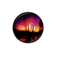Fall Forest Background Hat Clip Ball Marker