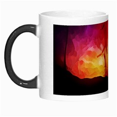 Fall Forest Background Morph Mugs