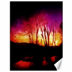 Fall Forest Background Canvas 36  X 48