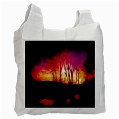 Fall Forest Background Recycle Bag (two Side)
