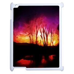 Fall Forest Background Apple iPad 2 Case (White)