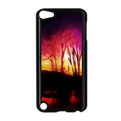 Fall Forest Background Apple Ipod Touch 5 Case (black)