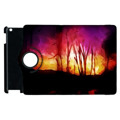 Fall Forest Background Apple iPad 3/4 Flip 360 Case