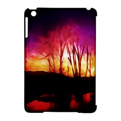 Fall Forest Background Apple iPad Mini Hardshell Case (Compatible with Smart Cover)