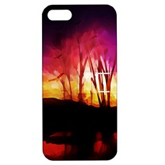 Fall Forest Background Apple iPhone 5 Hardshell Case with Stand