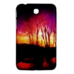 Fall Forest Background Samsung Galaxy Tab 3 (7 ) P3200 Hardshell Case