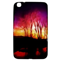 Fall Forest Background Samsung Galaxy Tab 3 (8 ) T3100 Hardshell Case