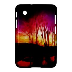 Fall Forest Background Samsung Galaxy Tab 2 (7 ) P3100 Hardshell Case