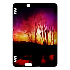 Fall Forest Background Kindle Fire HDX Hardshell Case