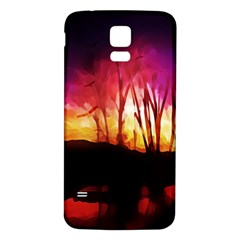 Fall Forest Background Samsung Galaxy S5 Back Case (white)