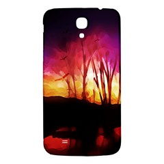 Fall Forest Background Samsung Galaxy Mega I9200 Hardshell Back Case