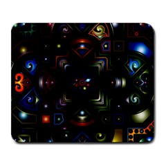 Geometric Line Art Background In Multi Colours Large Mousepads