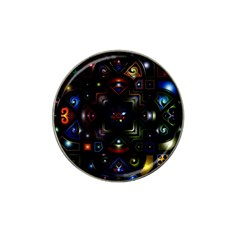 Geometric Line Art Background In Multi Colours Hat Clip Ball Marker (10 pack)