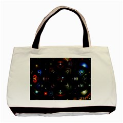 Geometric Line Art Background In Multi Colours Basic Tote Bag (two Sides)