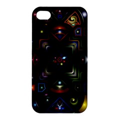 Geometric Line Art Background In Multi Colours Apple iPhone 4/4S Hardshell Case