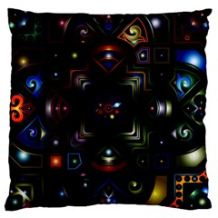 Geometric Line Art Background In Multi Colours Large Cushion Case (One Side)