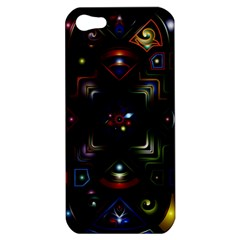 Geometric Line Art Background In Multi Colours Apple iPhone 5 Hardshell Case