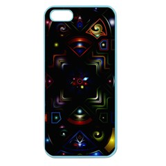 Geometric Line Art Background In Multi Colours Apple Seamless Iphone 5 Case (color)