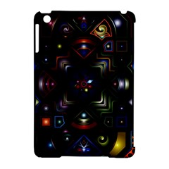 Geometric Line Art Background In Multi Colours Apple iPad Mini Hardshell Case (Compatible with Smart Cover)