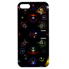 Geometric Line Art Background In Multi Colours Apple Iphone 5 Hardshell Case With Stand