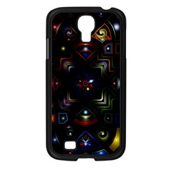 Geometric Line Art Background In Multi Colours Samsung Galaxy S4 I9500/ I9505 Case (Black)