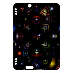Geometric Line Art Background In Multi Colours Kindle Fire Hdx Hardshell Case