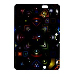 Geometric Line Art Background In Multi Colours Kindle Fire HDX 8.9  Hardshell Case
