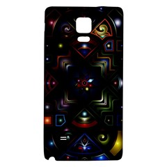 Geometric Line Art Background In Multi Colours Galaxy Note 4 Back Case