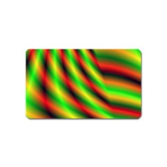 Neon Color Fractal Lines Magnet (Name Card)