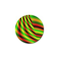 Neon Color Fractal Lines Golf Ball Marker (4 pack)