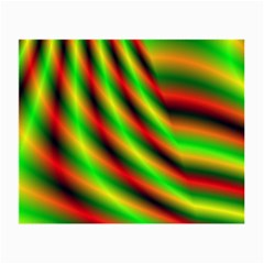 Neon Color Fractal Lines Small Glasses Cloth