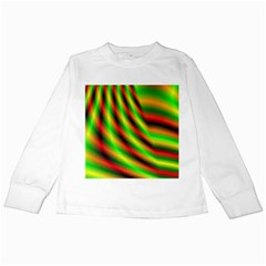 Neon Color Fractal Lines Kids Long Sleeve T-Shirts