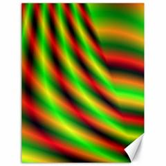 Neon Color Fractal Lines Canvas 18  X 24