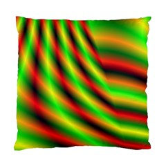 Neon Color Fractal Lines Standard Cushion Case (Two Sides)