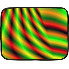 Neon Color Fractal Lines Fleece Blanket (mini)
