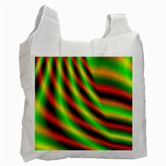 Neon Color Fractal Lines Recycle Bag (One Side)