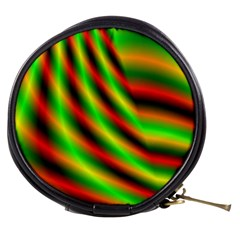 Neon Color Fractal Lines Mini Makeup Bags