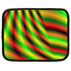 Neon Color Fractal Lines Netbook Case (xxl)