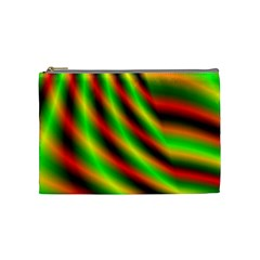 Neon Color Fractal Lines Cosmetic Bag (medium)