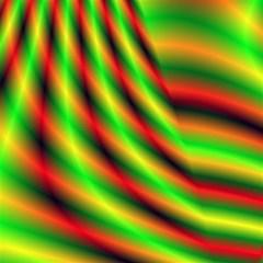 Neon Color Fractal Lines Magic Photo Cubes