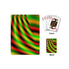 Neon Color Fractal Lines Playing Cards (mini)