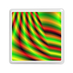 Neon Color Fractal Lines Memory Card Reader (square)