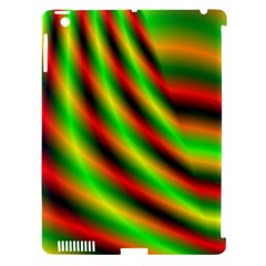 Neon Color Fractal Lines Apple iPad 3/4 Hardshell Case (Compatible with Smart Cover)
