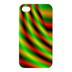 Neon Color Fractal Lines Apple iPhone 4/4S Premium Hardshell Case