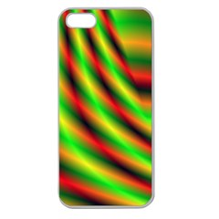 Neon Color Fractal Lines Apple Seamless iPhone 5 Case (Clear)